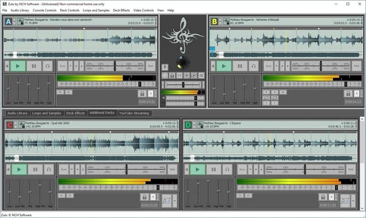 basic DJ software package zulu