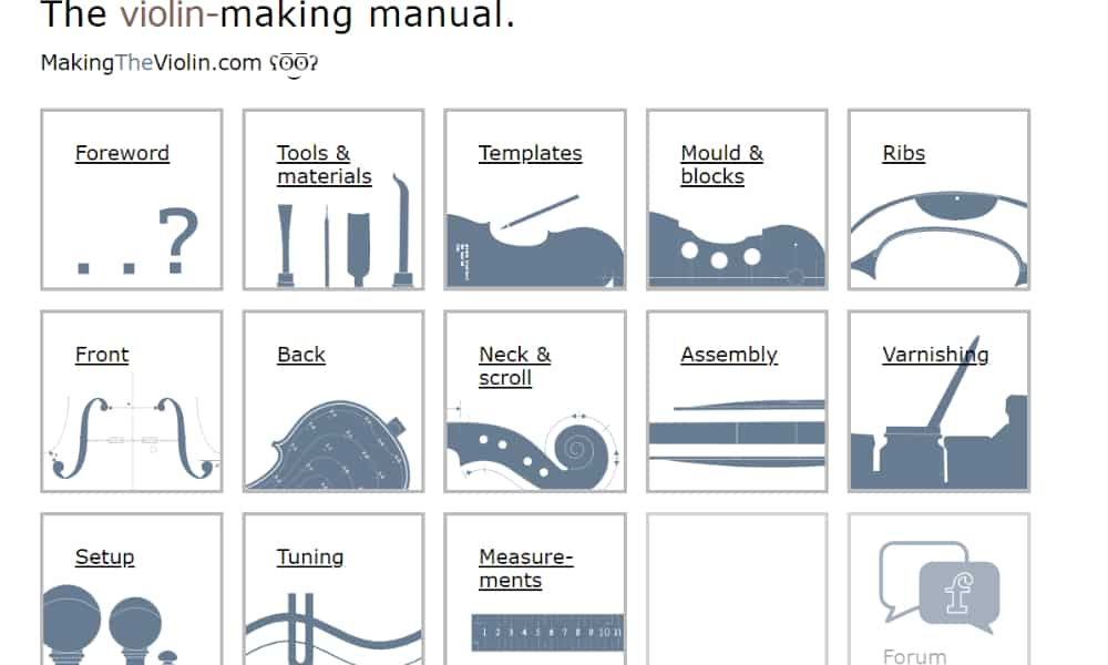 The Violin-Making Manual